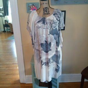 Anthropologie silk blend dress
